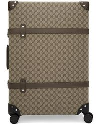 Gucci Beige Globe-trotter Edition Large GG Suitcase - Natural