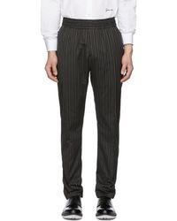 Givenchy - Black Stripe Trousers - Lyst