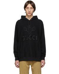 Gucci - ブラック テニス クラブ フーディ - Lyst