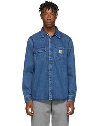 Carhartt WIP ブルー Salinac シャツ ジャケット