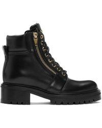 Balmain ブラック レザー Army ブーツ