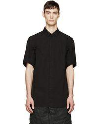Boris Bidjan Saberi 11 - Black Logo Print Shirt - Lyst