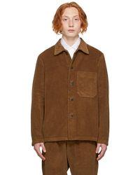 Barena ブラウン オーバーシャツ ジャケット