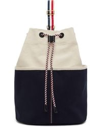 Thom Browne Off-white Sailor Backpack - Multicolor
