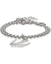 McQ - Silver Swallow Bracelet - Lyst