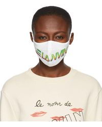 Lanvin Two-pack Black & White Logo Face Masks - Multicolour