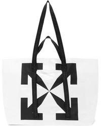 Off-White c/o Virgil Abloh White Transparent Arrows Tyvek Tote