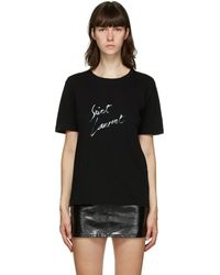Saint Laurent T-shirt noir Signature