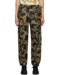 Versace Jeans Couture ブラック ロゴ Baroque パンツ