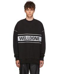 we11done Black Reflective Logo Sweatshirt