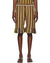 Cmmn Swdn Striped Alvar Shorts - Brown