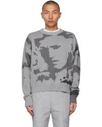 HELIOT EMIL Grey Jacquard Artwork Sweater