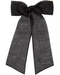 Sophie Buhai Organza Oversized Bow Hair Clip - Black