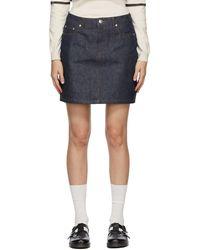 A.P.C. インディゴ Standard ミニスカート - ブルー