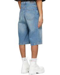 Balenciaga Short en denim bleu Skater