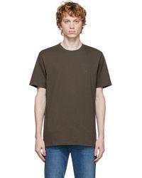 FRAME ブラウン ロゴ T シャツ