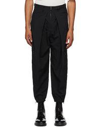 Julius Pantalon cargo noir Zip