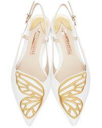 Sophia Webster - ホワイト Butterfly スリングバック フラット - Lyst