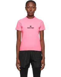 Balenciaga - ピンク Sponsor ロゴ T シャツ - Lyst
