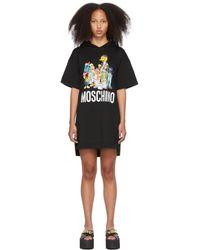 Moschino - Sesame Street エディション ブラック フーディ ドレス - Lyst