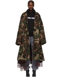 Vetements - Green Camouflage Scarf Trench Coat - Lyst