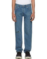 Balenciaga - Blue Knee Hole Archetype Jeans - Lyst
