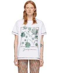 Jacquemus ホワイト Artichoke Le T-shirt Mala T シャツ