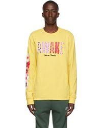 AWAKE NY Yellow Bloom Long Sleeve T-shirt