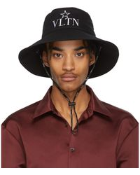 Valentino - Chapeau noir Garavani VLTN Star - Lyst