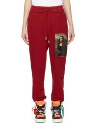 Off-White c/o Virgil Abloh - Red Monalisa Lounge Pants - Lyst