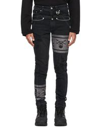 Mastermind Japan Black C2h4 Edition Denim 'c-mastermind' Double Waist Jeans