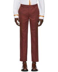 Eckhaus Latta Red Narrow Pants
