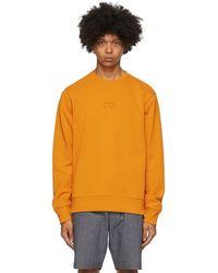 Saturdays NYC オレンジ Bowery United クルーネック スウェットシャツ