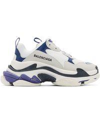 Balenciaga - Baskets blanches Triple S - Lyst