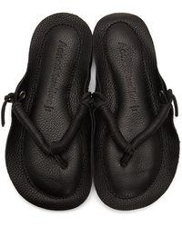 Acne Studios Leather Flip-flop Sandals - Black