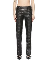 Saks Potts Black Leather Christina Trousers