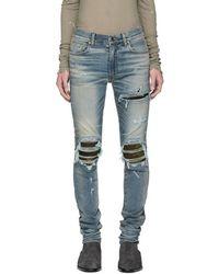 Amiri - Indigo Mx1 Camo Jeans - Lyst