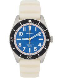Shinola ブルー & シルバー The Duck 42 Mm 腕時計 - マルチカラー