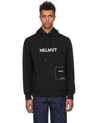 Helmut Lang - Black Index Hoodie - Lyst