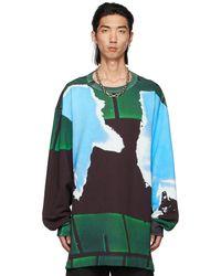 Dries Van Noten Blue & Green Len Lye Edition Print Sweatshirt