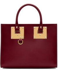 Sophie Hulme - Red Medium Albion Box Tote - Lyst