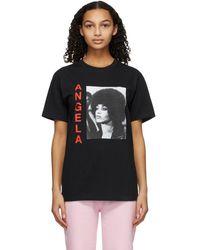 AWAKE NY ブラック Angela Davis T シャツ