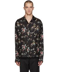 Haider Ackermann Black Freesia Pajama Shirt