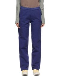 Brain Dead Navy Hard Ware/soft Wear Carpenter Pants - Blue