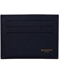 Givenchy ネイビー Eros カード ケース - ブルー
