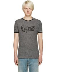 Marc Jacobs - Grey 'desperate' T-shirt - Lyst