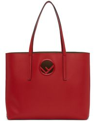 Fendi - Red Circle F Shopping Tote - Lyst