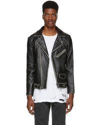 Stolen Girlfriends Club Black Distressed Leather Joey Jacket