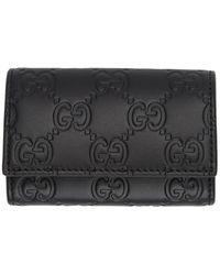 Gucci Black Signature Key Case