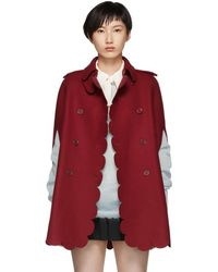 RED Valentino - Red Scalloped Cape - Lyst